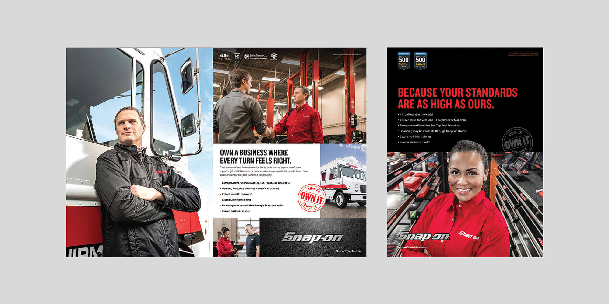 Snap-on Franchise ads creative work