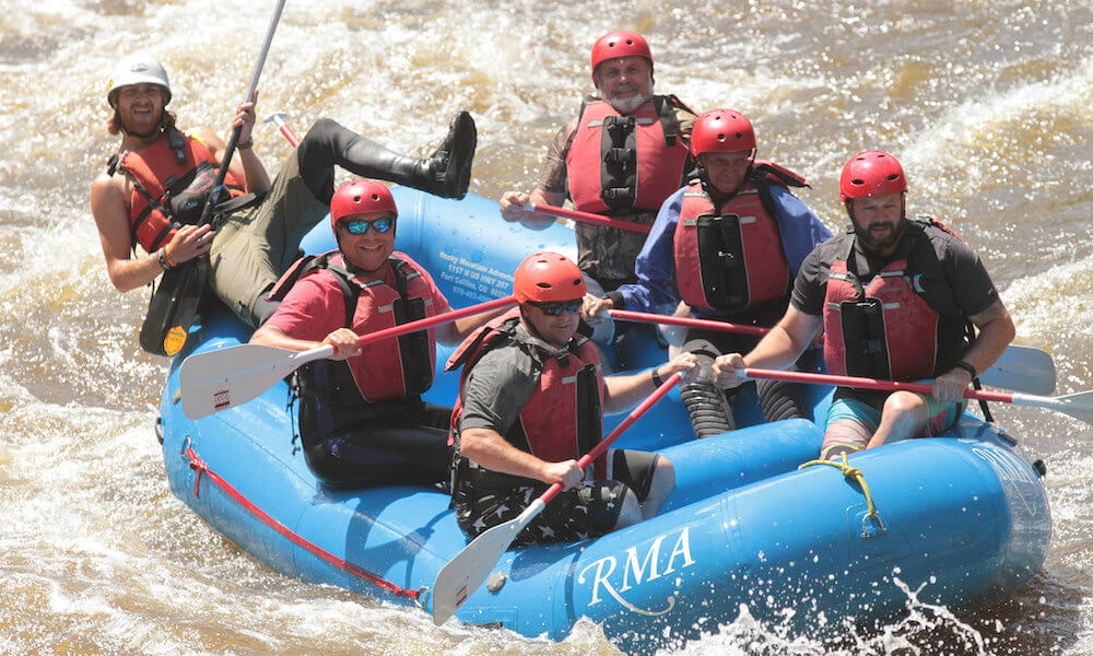 2019 no barriers warriors program highlights: whitewater rafting on the poudre river in colorado
