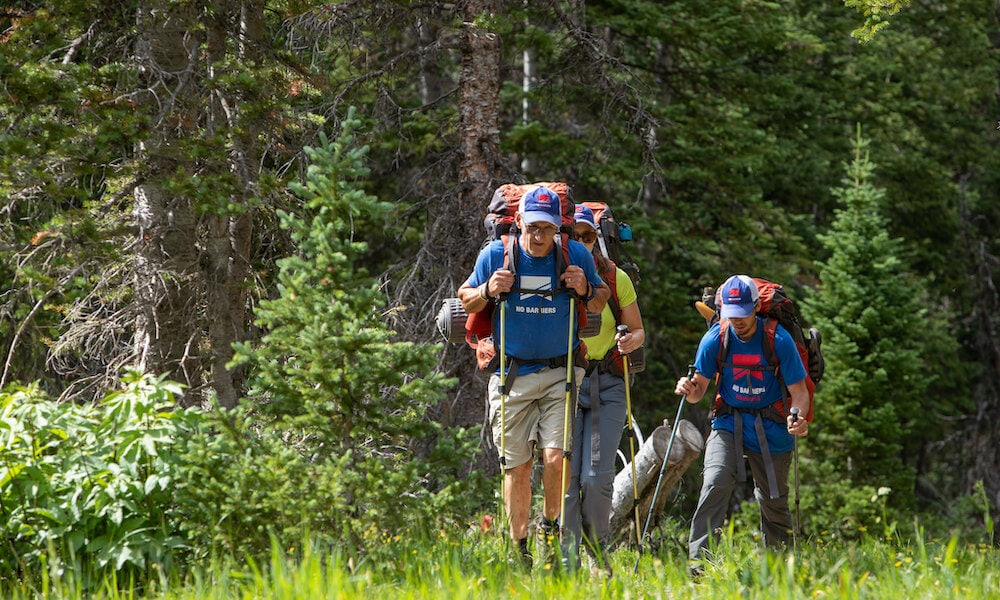 2019 no barriers warriors program highlights: hiking in the forest