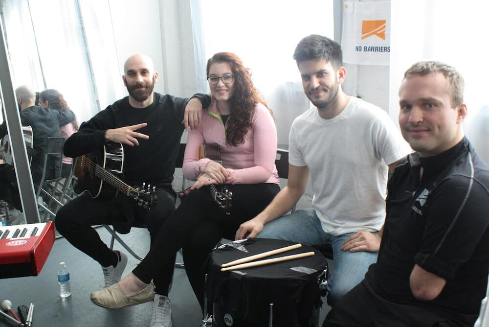 mandy harvey no barriers with a group of musicians with disabilities