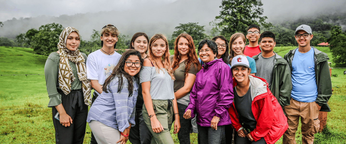Group of Kids in Cloud Forest